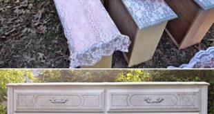 How to DIY Lace Painted Furniture Tutorial + Video