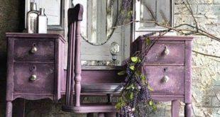 SOLD Vintage Makeup Vanity Dressing Table Rustic Elegance