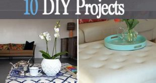 Awesome DIY Ottomans • 10 Projects