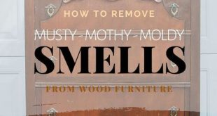 How To Remove Musty-Mothy-Moldy Smells From Wood Furniture