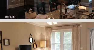 See the two round hanging pics by tv. Print water related pics or thoughtful sho...