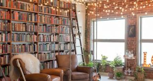 Small book-filled loft in downtown Los Angeles offers a magical aesthetic