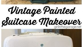 Vintage Painted Suitcase Makeover - Girl in the Garage