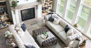 20+ Enchanting Open Living Room Design Ideas