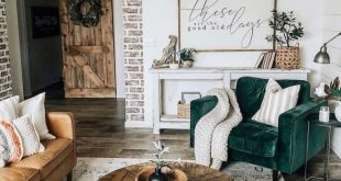 34 Comfy Living Room Decoration Ideas With Farmhouse Style