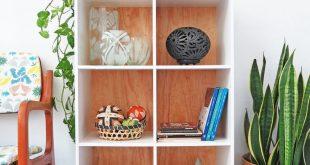 Easy shelf unit makeover
