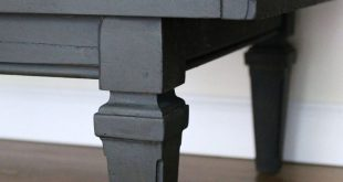 Graphite Table with Decoupage Drawers - Themed Furniture Makeover