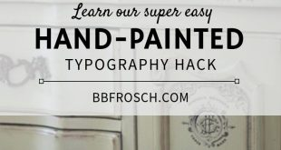 Hand-Painted Typography Hack for Furniture