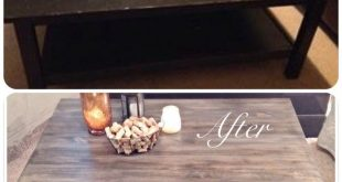 IKEA coffee table use to be all black, now it's been given a shabby chic mak...