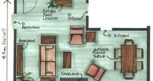 L-shaped living/dining room is a challenge