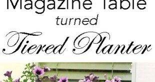 Magazine Stand Turned Tiered Planter