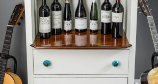 Upcycled: Old Chest of Drawers to Wine Bar