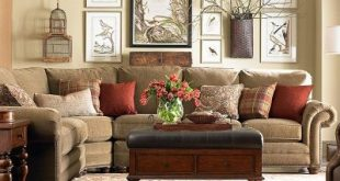 hickory manor furniture sofa   Curved Corner Sectional 5000-CLSECTF Bassett   Cu...